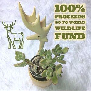 Deer Wooden Decor Candle Holder Succulent Holder
